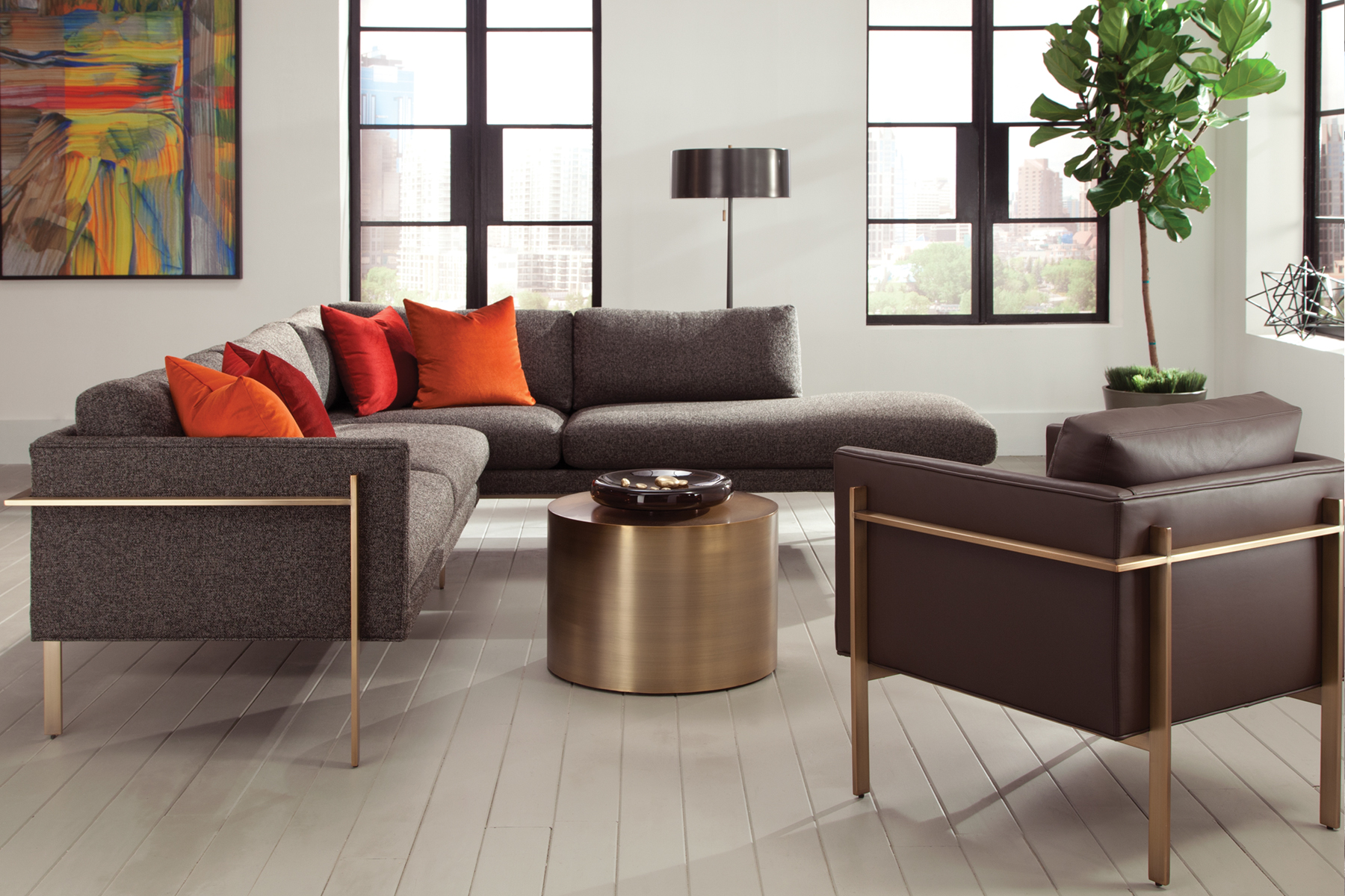 Drop In sectional and chair from Thayer Coggin