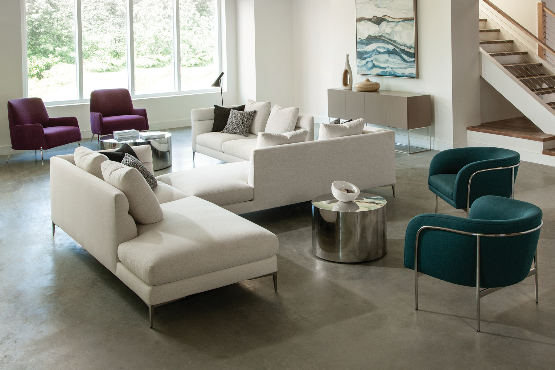 Spaced Out sectional from Thayer Coggin