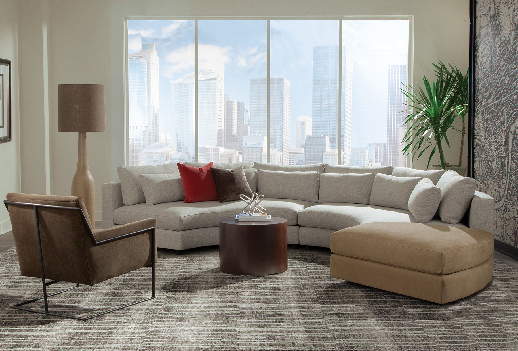 Hi-Wire lounge chair with Straight Up sectional from Thayer Coggin