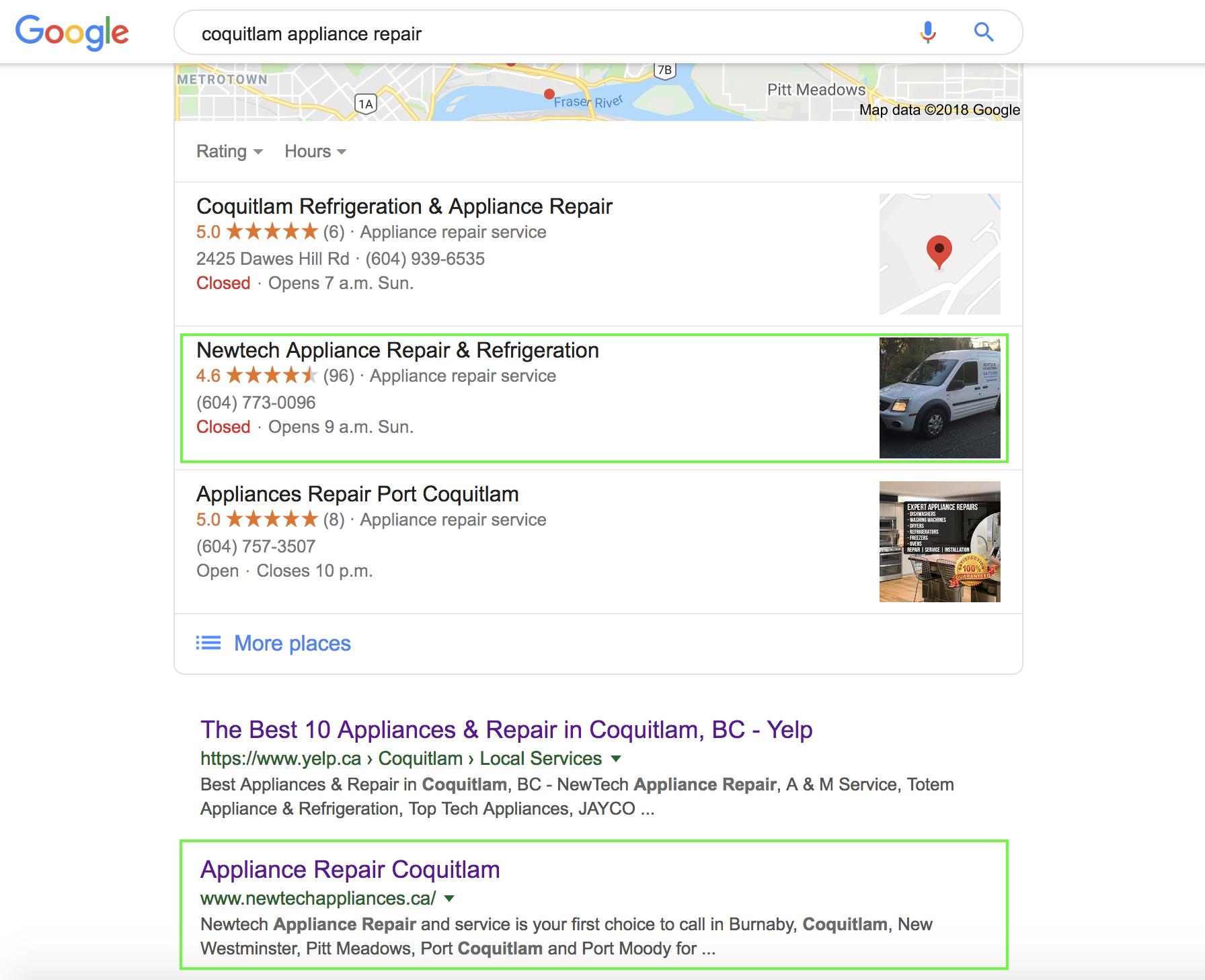 seo edmonton client results screenshot