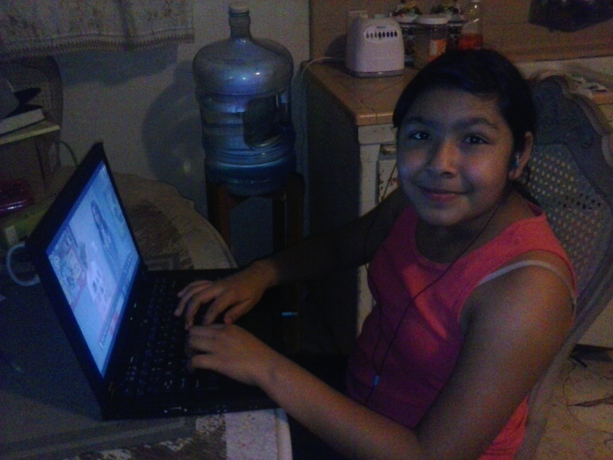 Family With Two Students Empowered With Technology