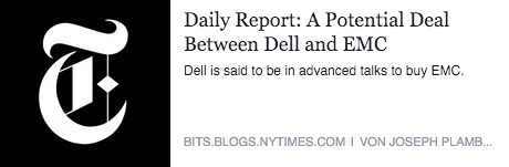 A Potential Deal Between Dell and EMC