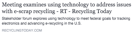 Examining the Electronics Recycling Industry