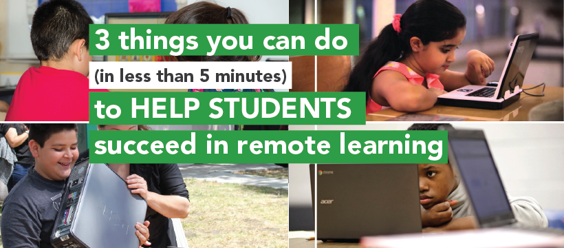 3 things you can do to help students succeed in remote learning