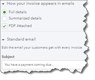QBO Sales Form Email Template