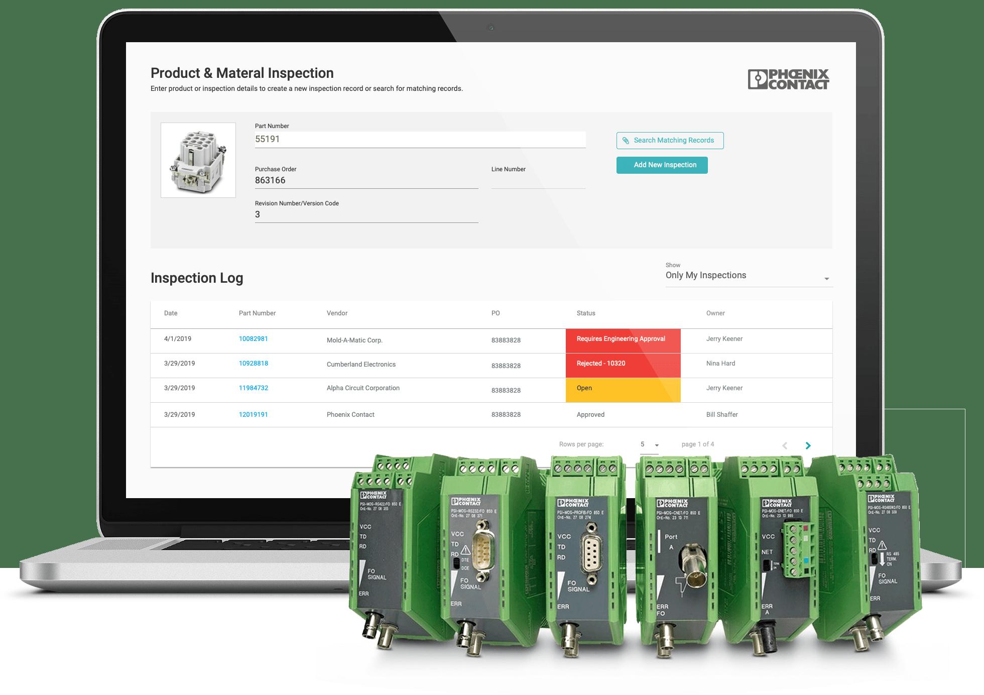QA Inspection Application Interface Design