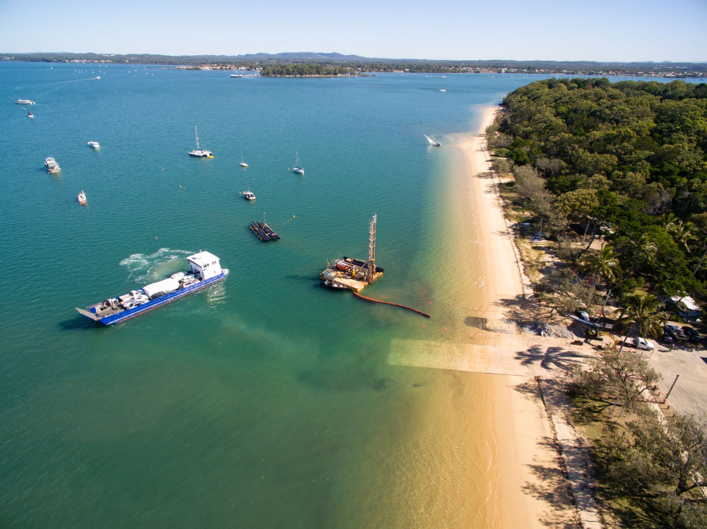 Coochiemudlo island is near Brisbane in Moreton Bay, and using drones from Rapax Construction Photography, we were able to capture this beautiful view of the new boat ramp.