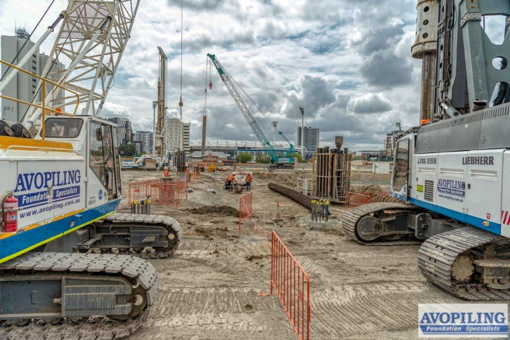 Ground works at Wooloongabba for the Cross River Rail (TSD Section), taken by one of our professional photographers