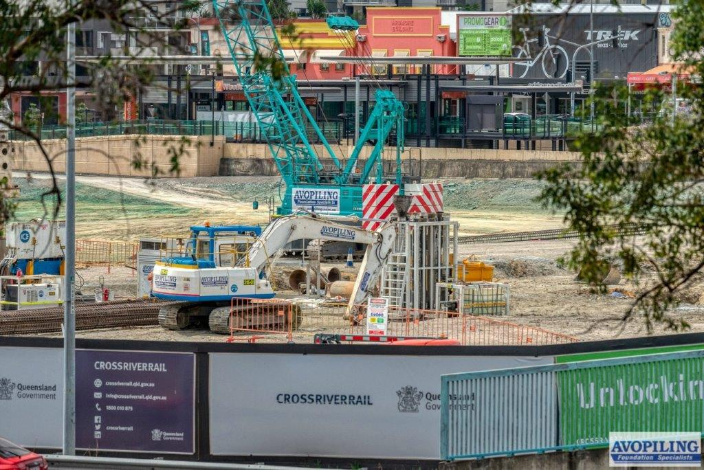 Professional photography at the Woolloongabba site of the Cross River Rail