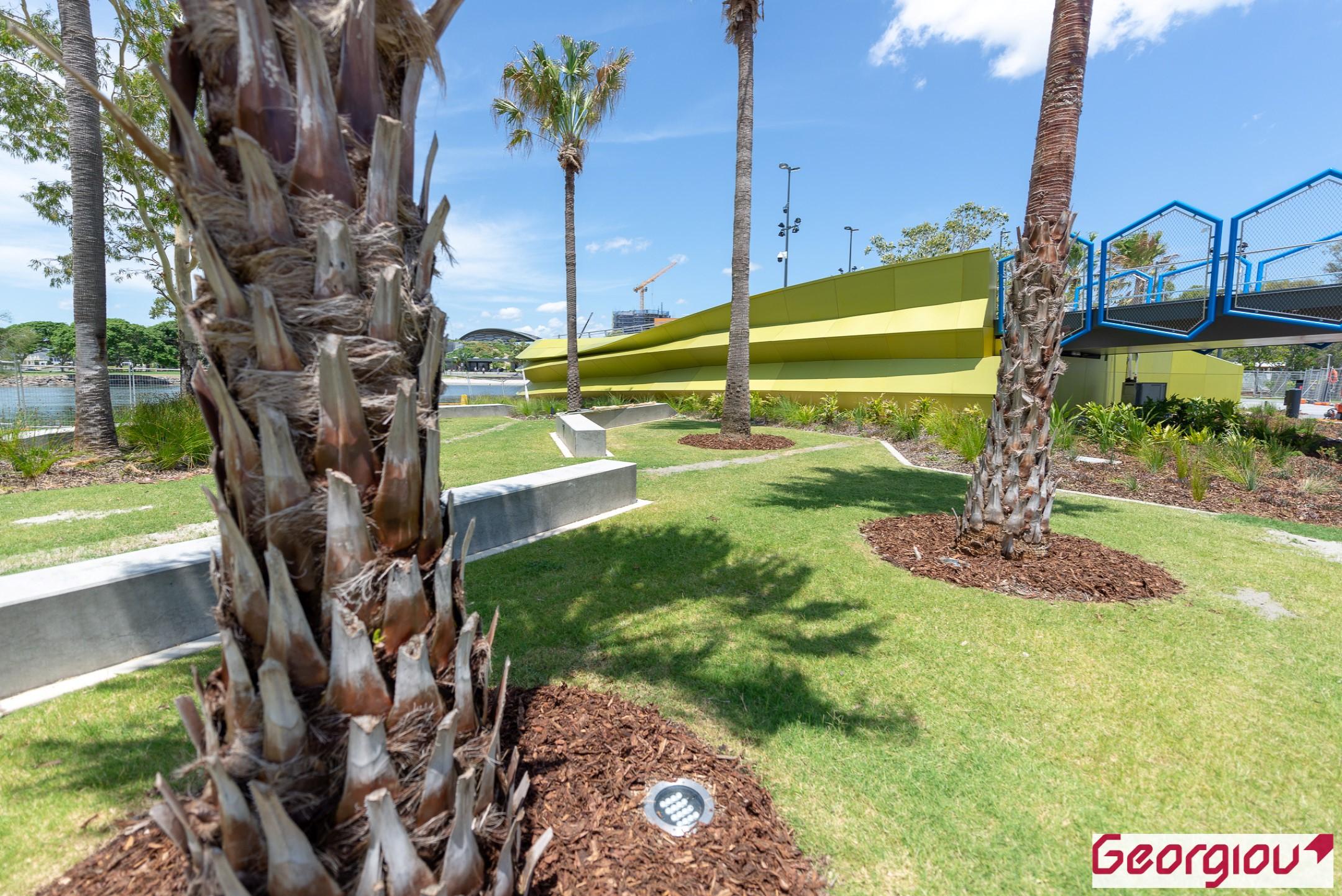 Beautiful parklands at the Green Bridge adjacent the Gold Coast Arts Centre. Professional Photographers by Rapax Construction Photography