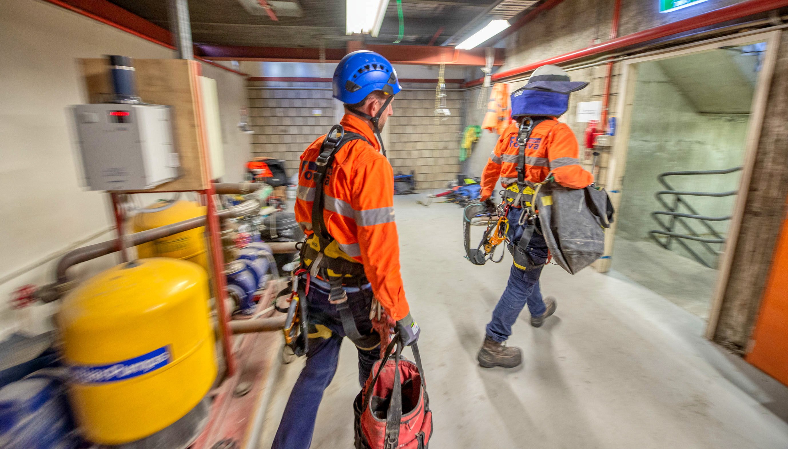 Going to work, captured by captured by Rapax Construction Photography