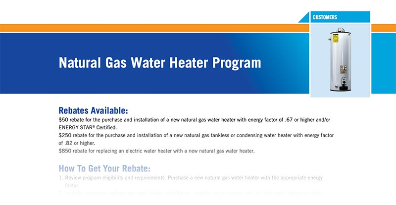 Oklahoma natural gas water heater rebate form