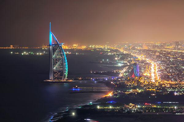 English Courses in Dubai, view of Burj Al Arab accommodation for international students