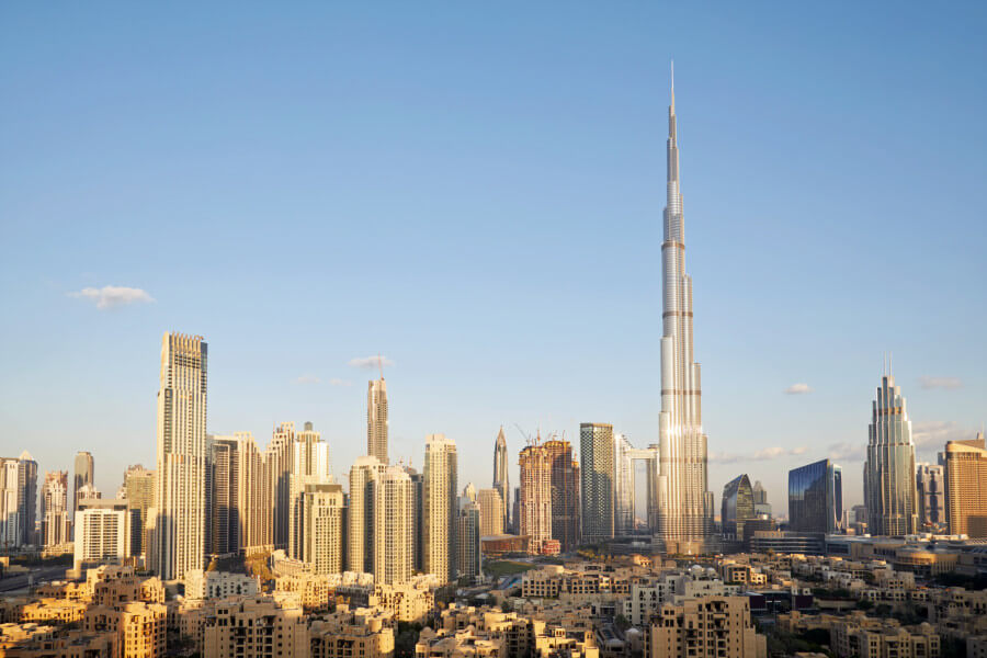 view of Dubai Burj Al Khalifa