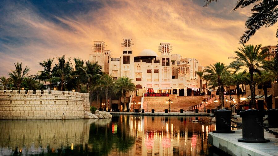 View of Souq Madinat in Dubai, Jumeirah