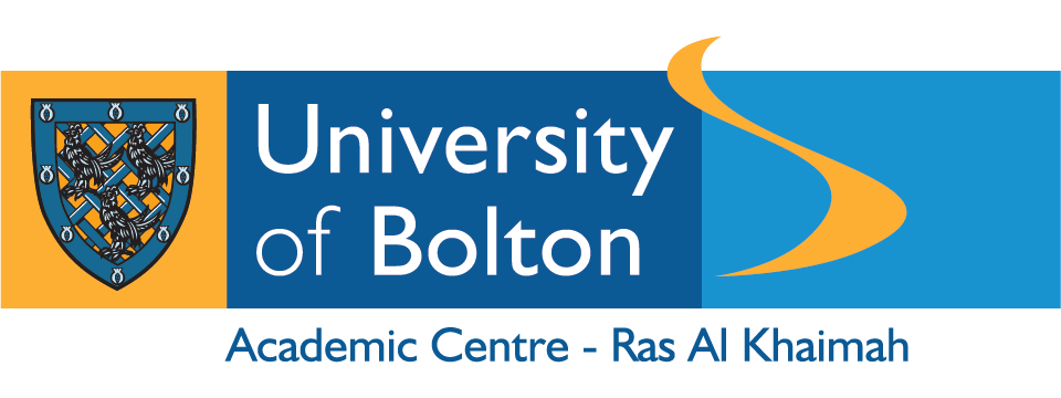 Logo for university of Bolton in Ras Al Khaimah