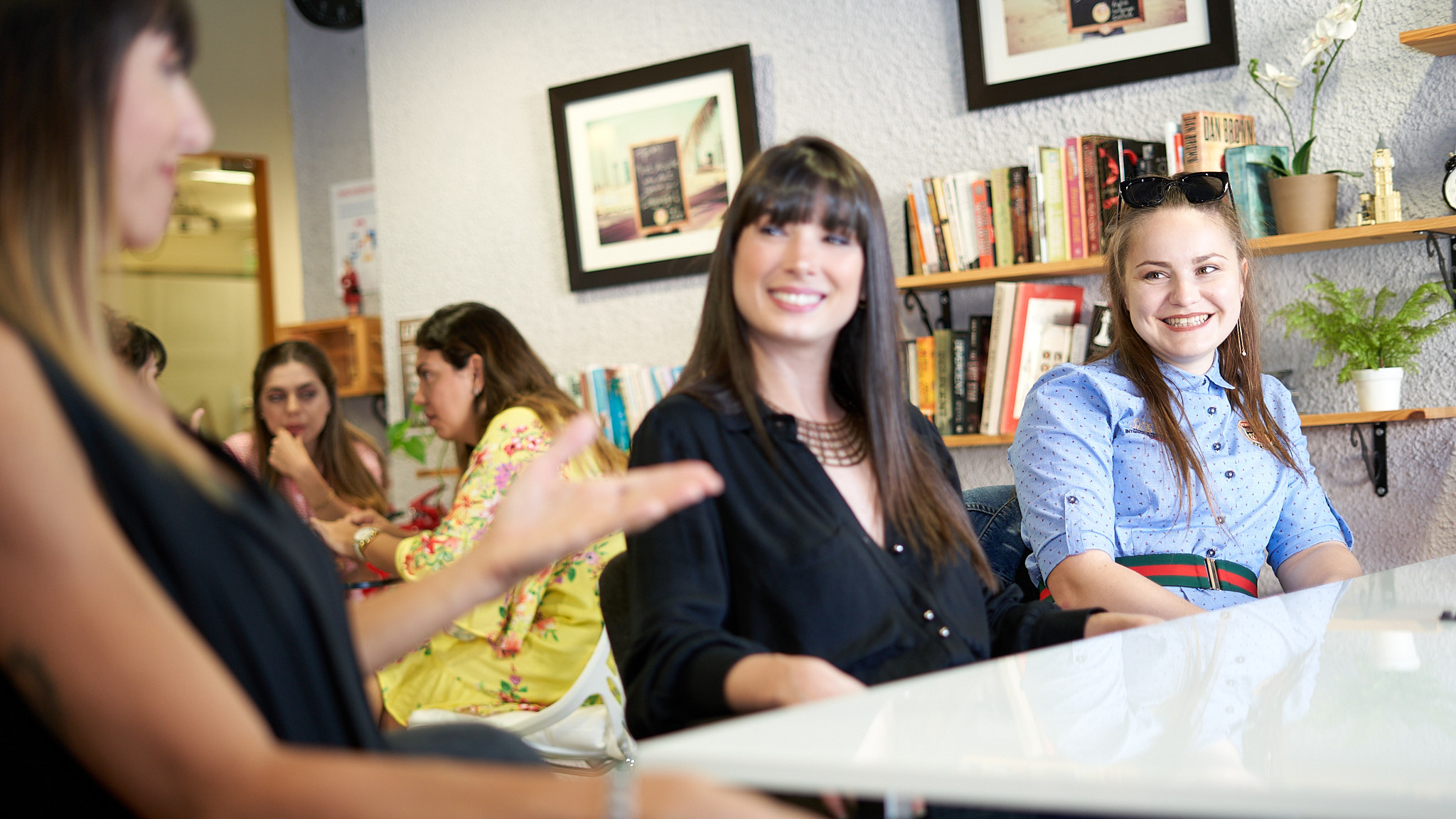Student speaking in english
