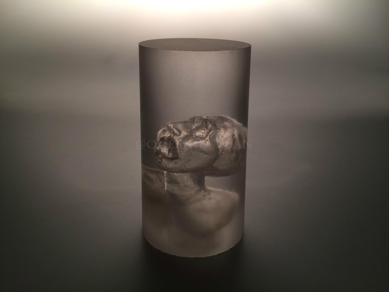 'Lives Being Equal' lead glass, Jesmonite 2015