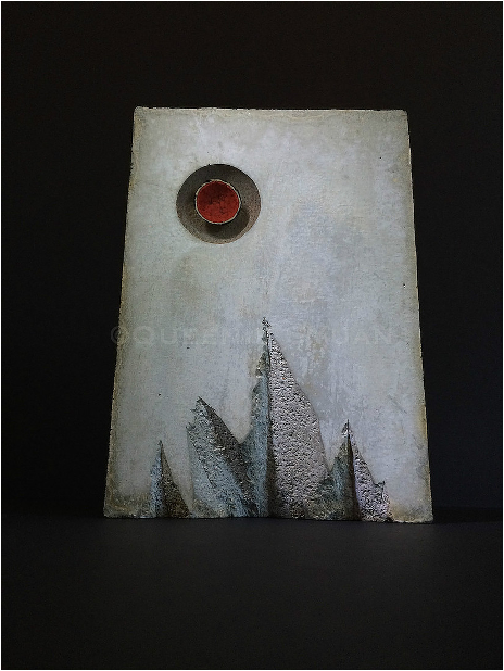 'Tree Ring' lead glass, concrete 2014