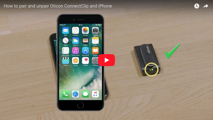 How to pair and unpair Oticon ConnectClip and iPhone