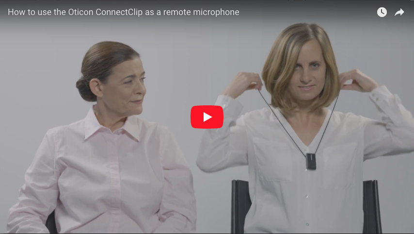 How to use the Oticon ConnectClip as a microphone