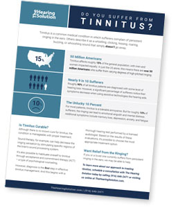Tinnitus - Ringing in Ears