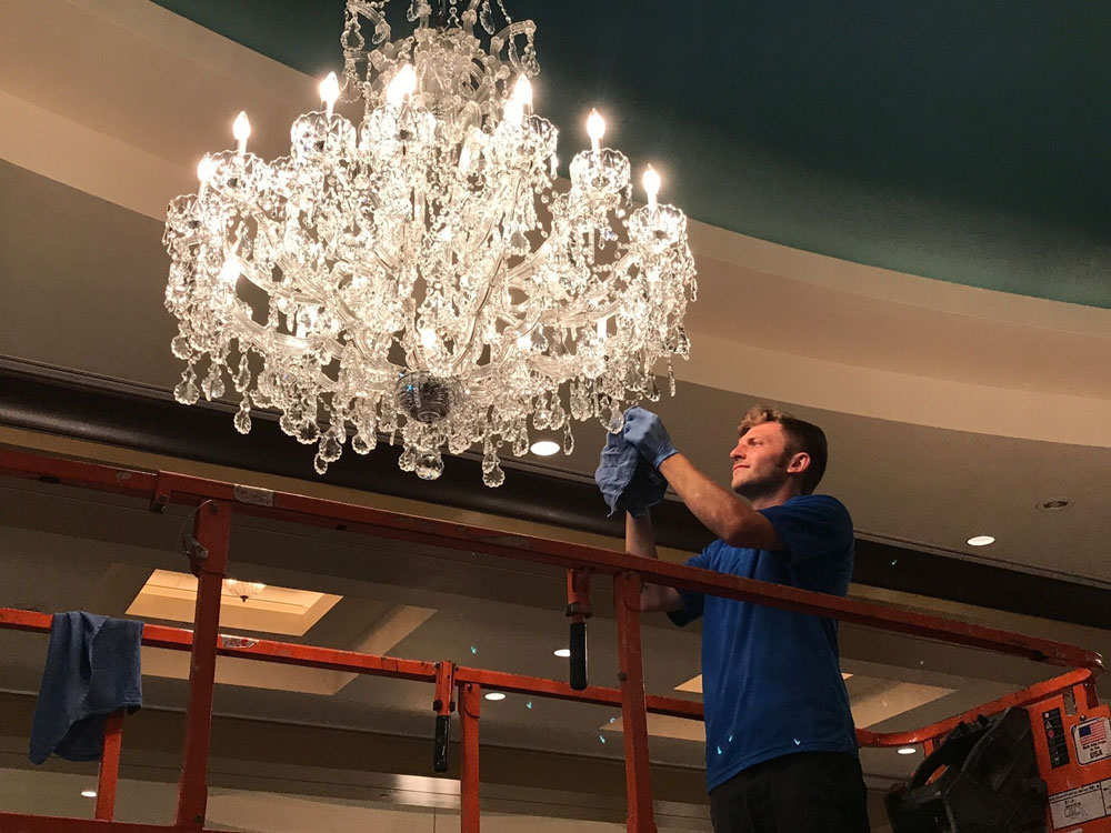 chandelier cleaning jesse