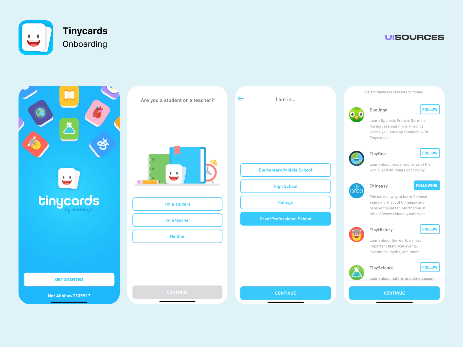02 tinycards onboarding