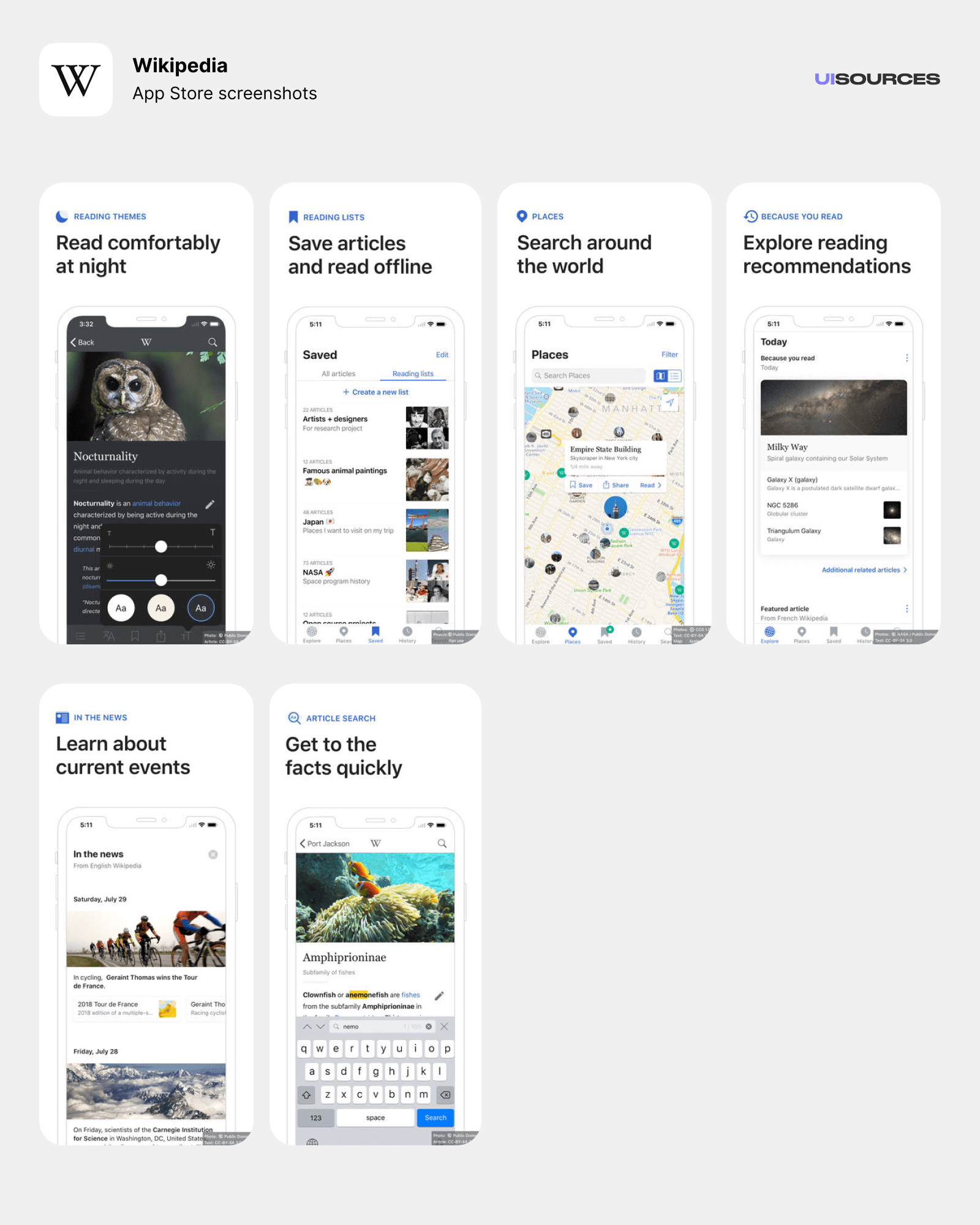 01 wikipedia app store screenshots