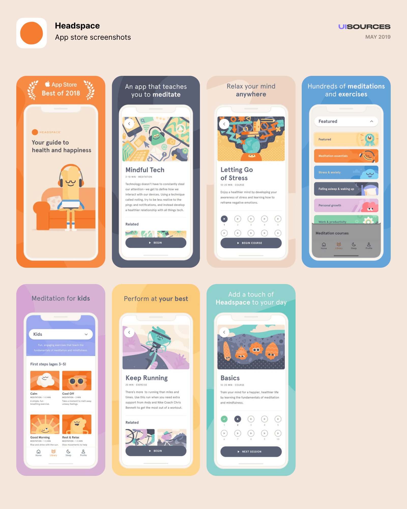 02 headspace app store screenshots june 2018