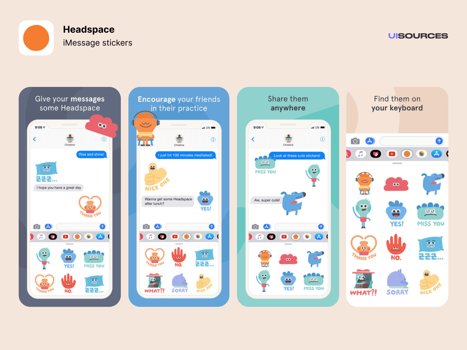 Headspace - App Store screenshots | UI Sources