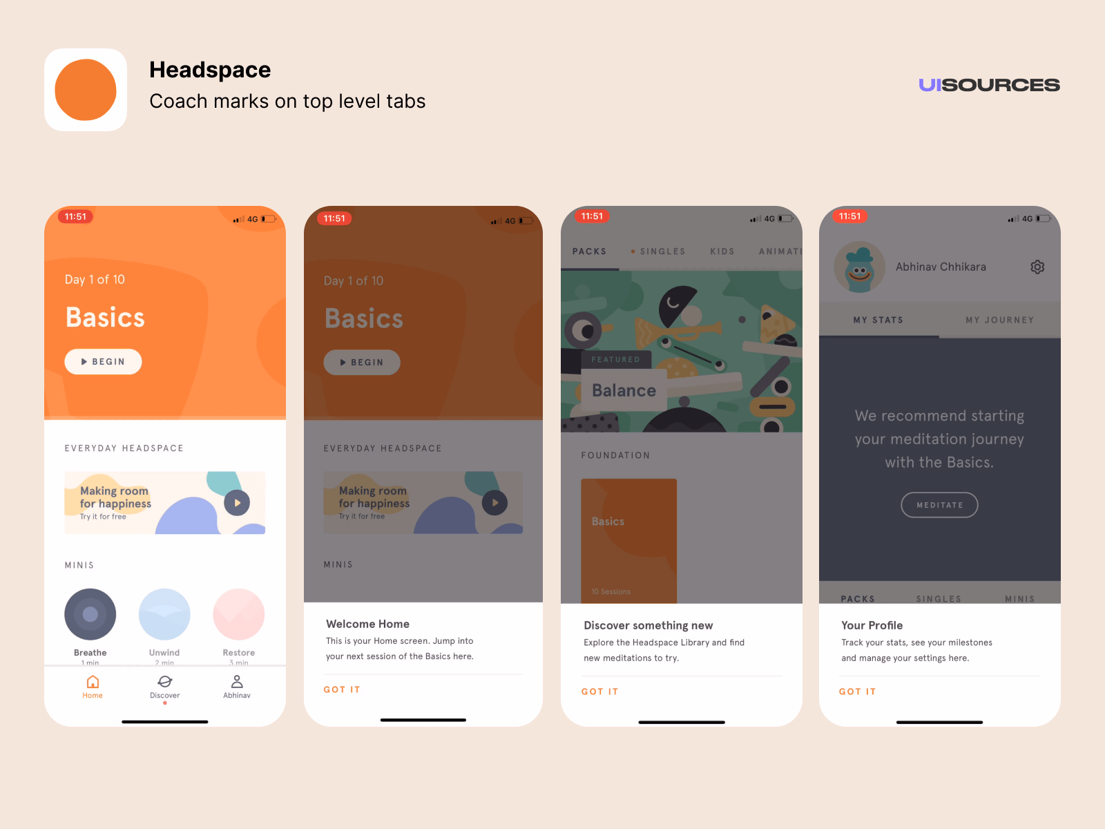 06 headspace coach marks top level tabs
