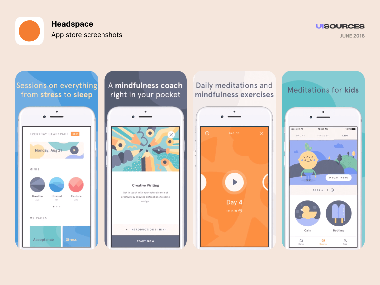 01 headspace app store screenshots may 2019