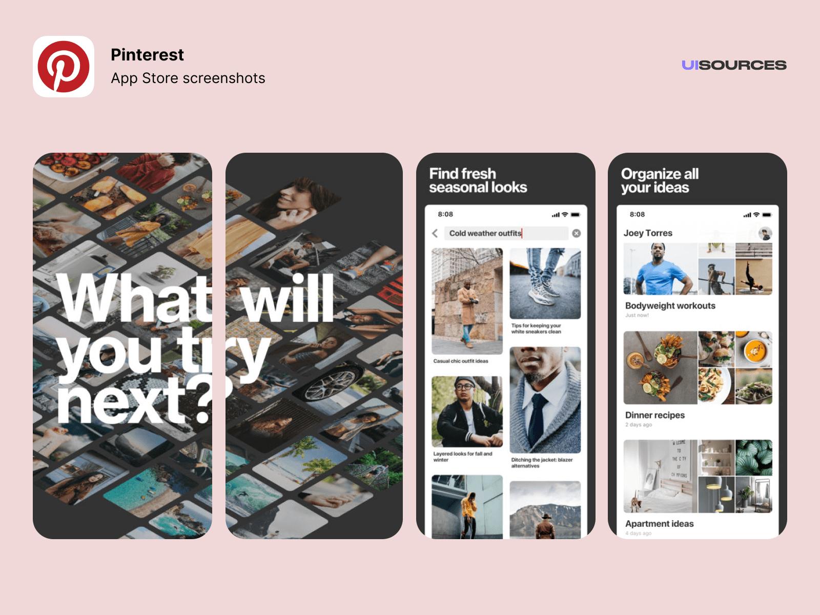 01 pinterest app store screenshots