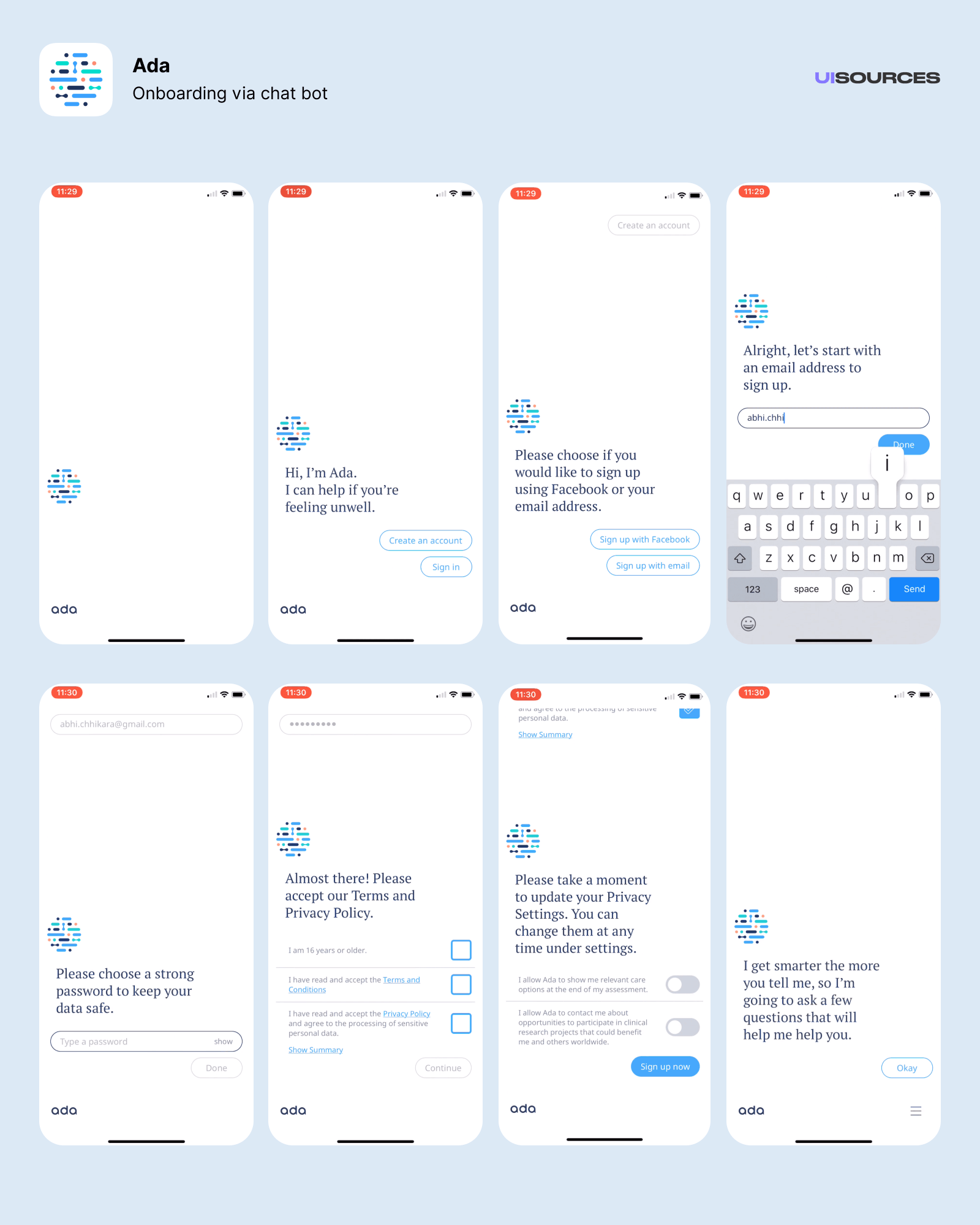 Onboarding via chat bot