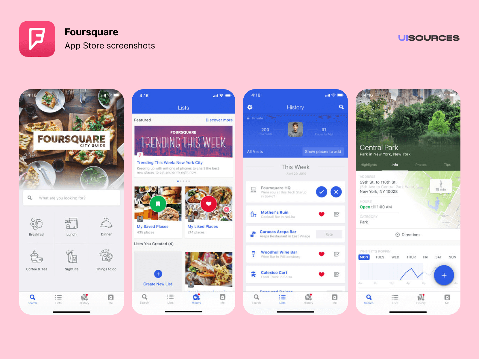 01 foursquare app store screenshots