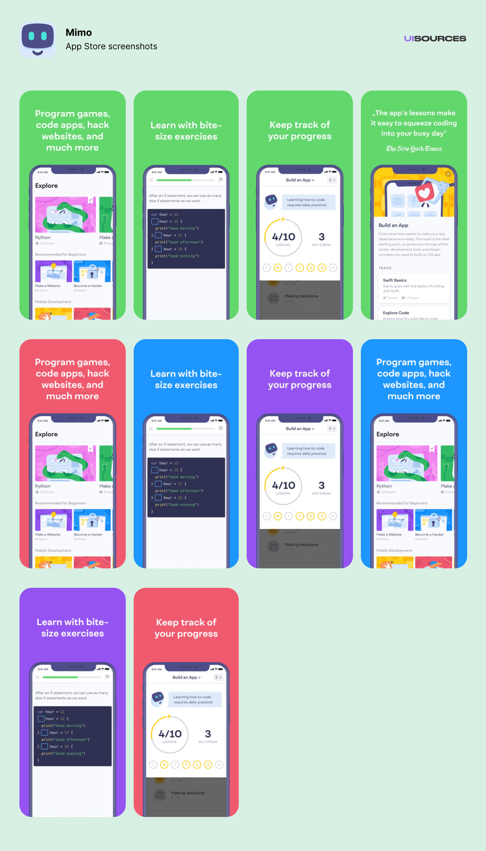 Mimo - Onboarding | UI Sources