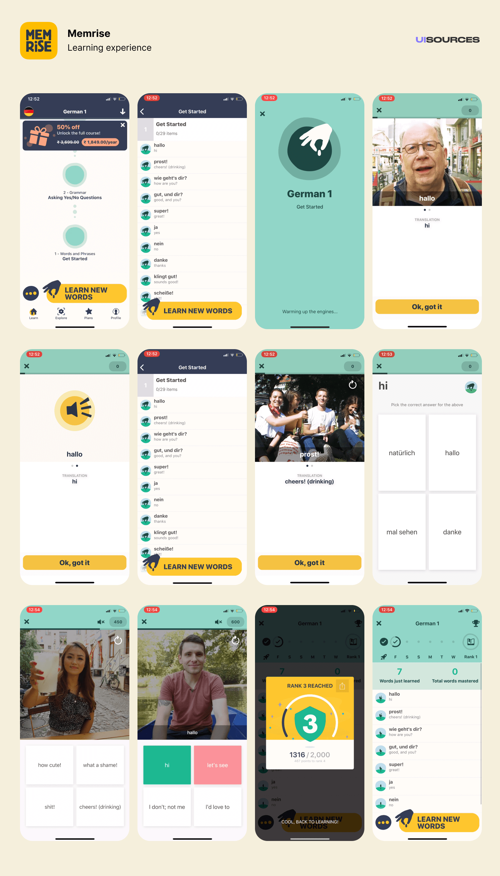 Memrise - Learning experience | UI Sources