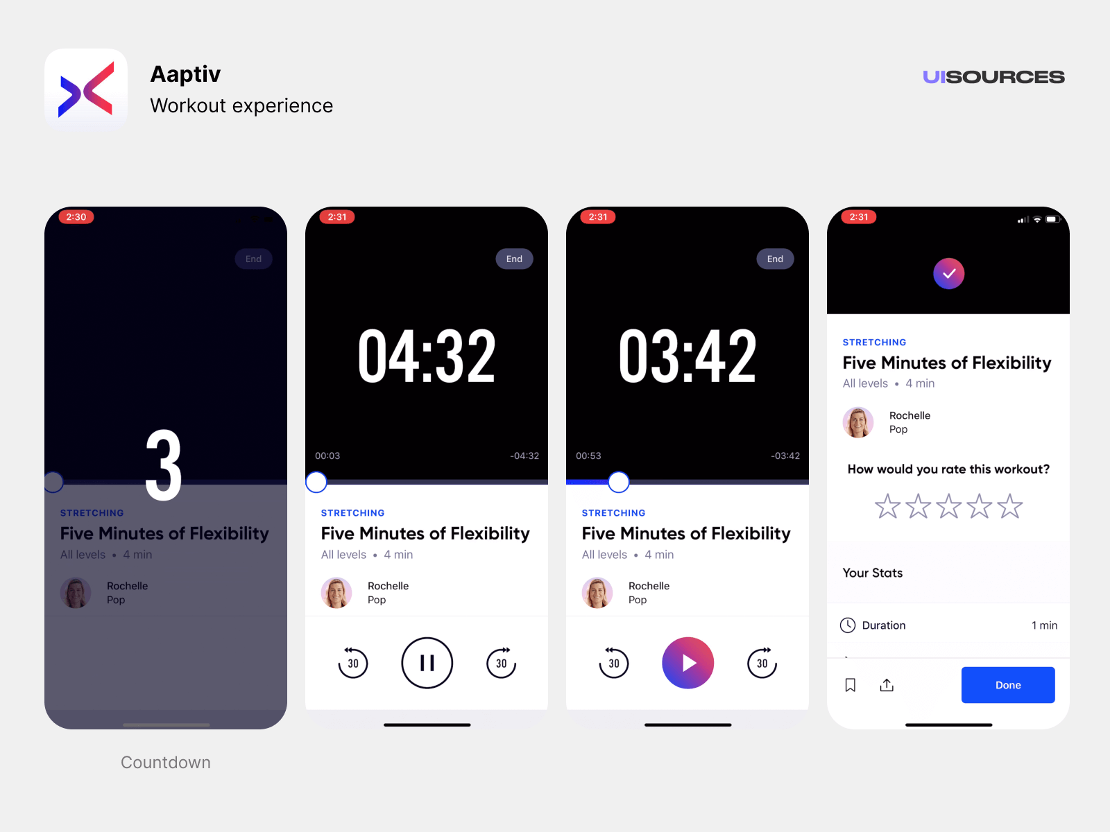 Audio workout experience