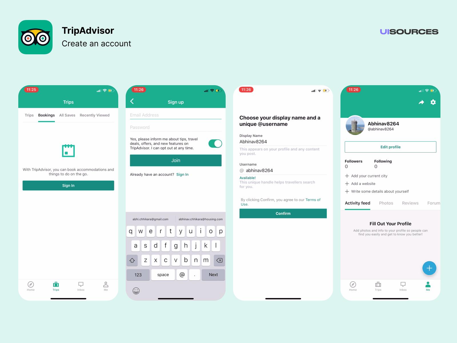 04 tripadvisor create an account