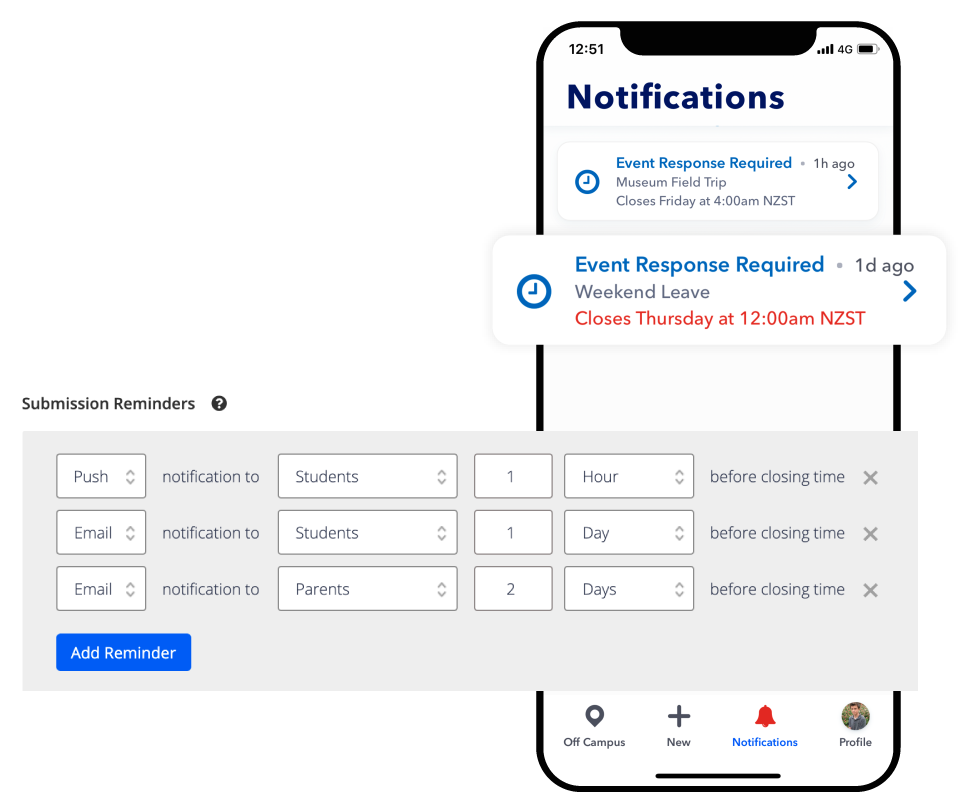 automate school event reminders