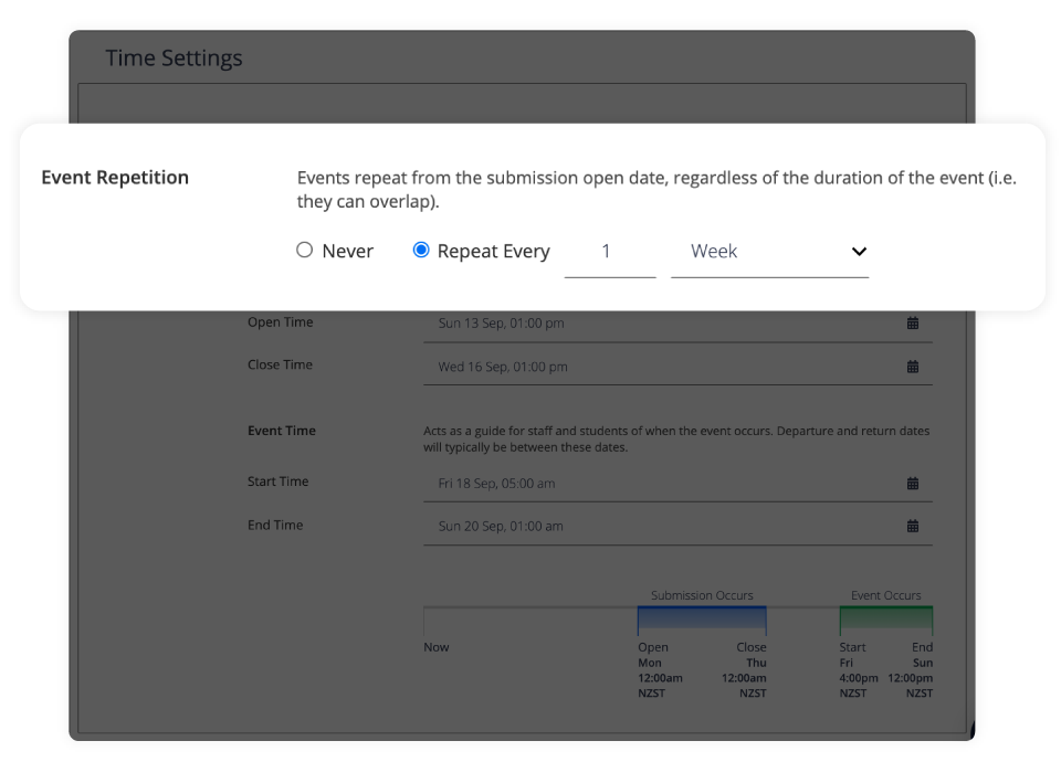 Save time with recurring events
