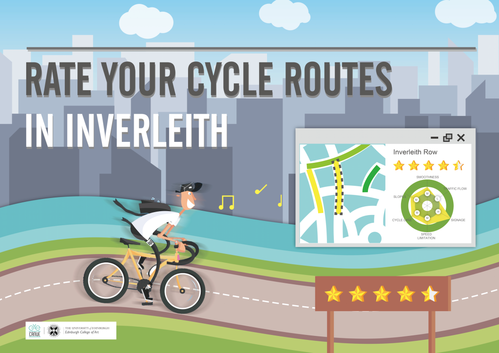 Screen Shot of Rate Your Cycle Routes website