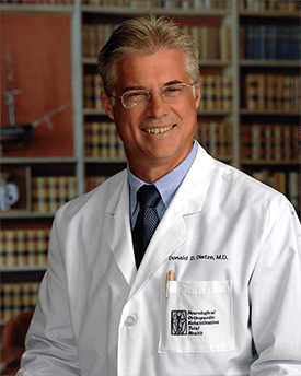 Donald D. Dietze, MD, focuses on restoring spinal health and well-being to all patients.