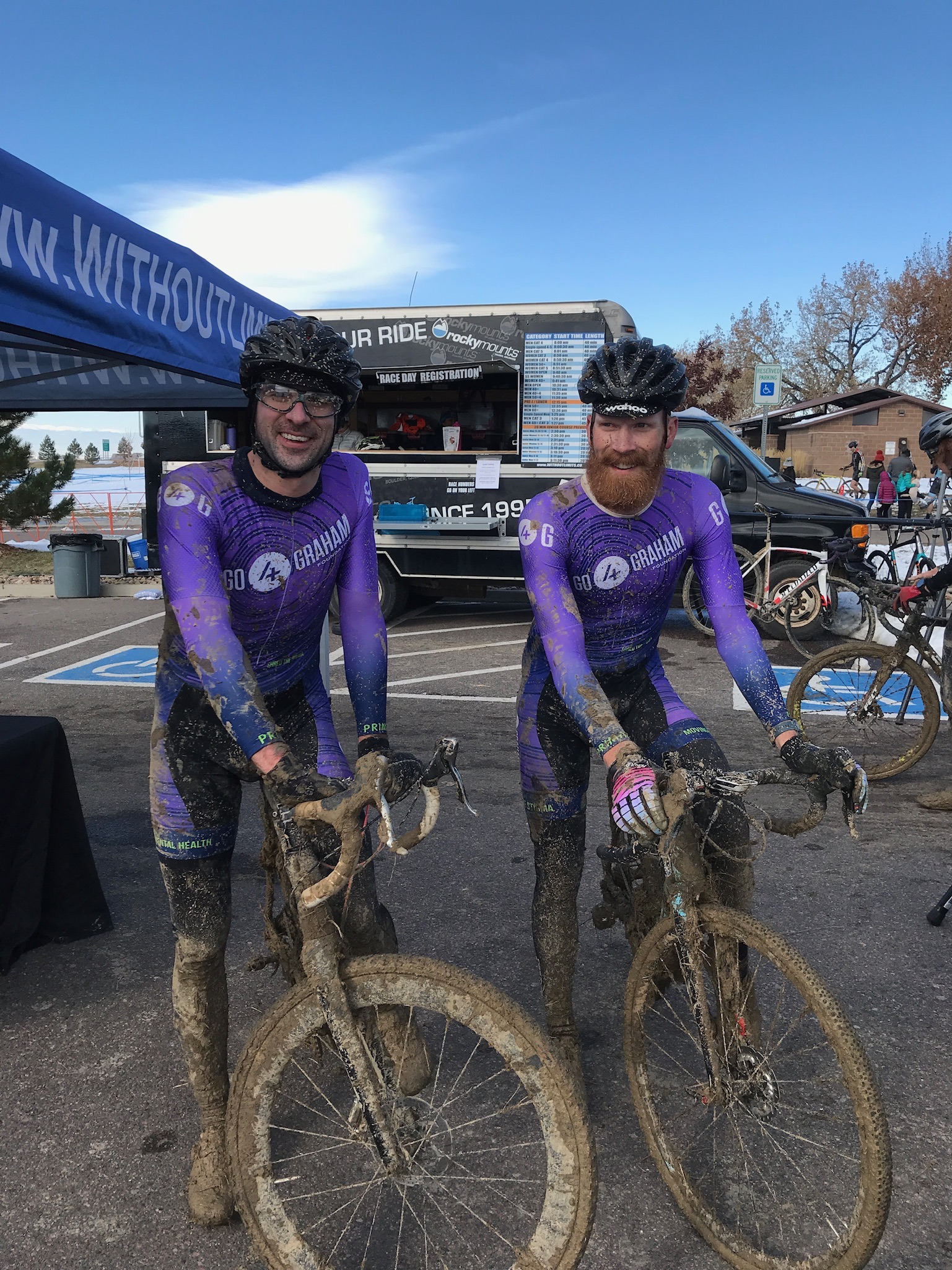 Our team riders playing in the mud