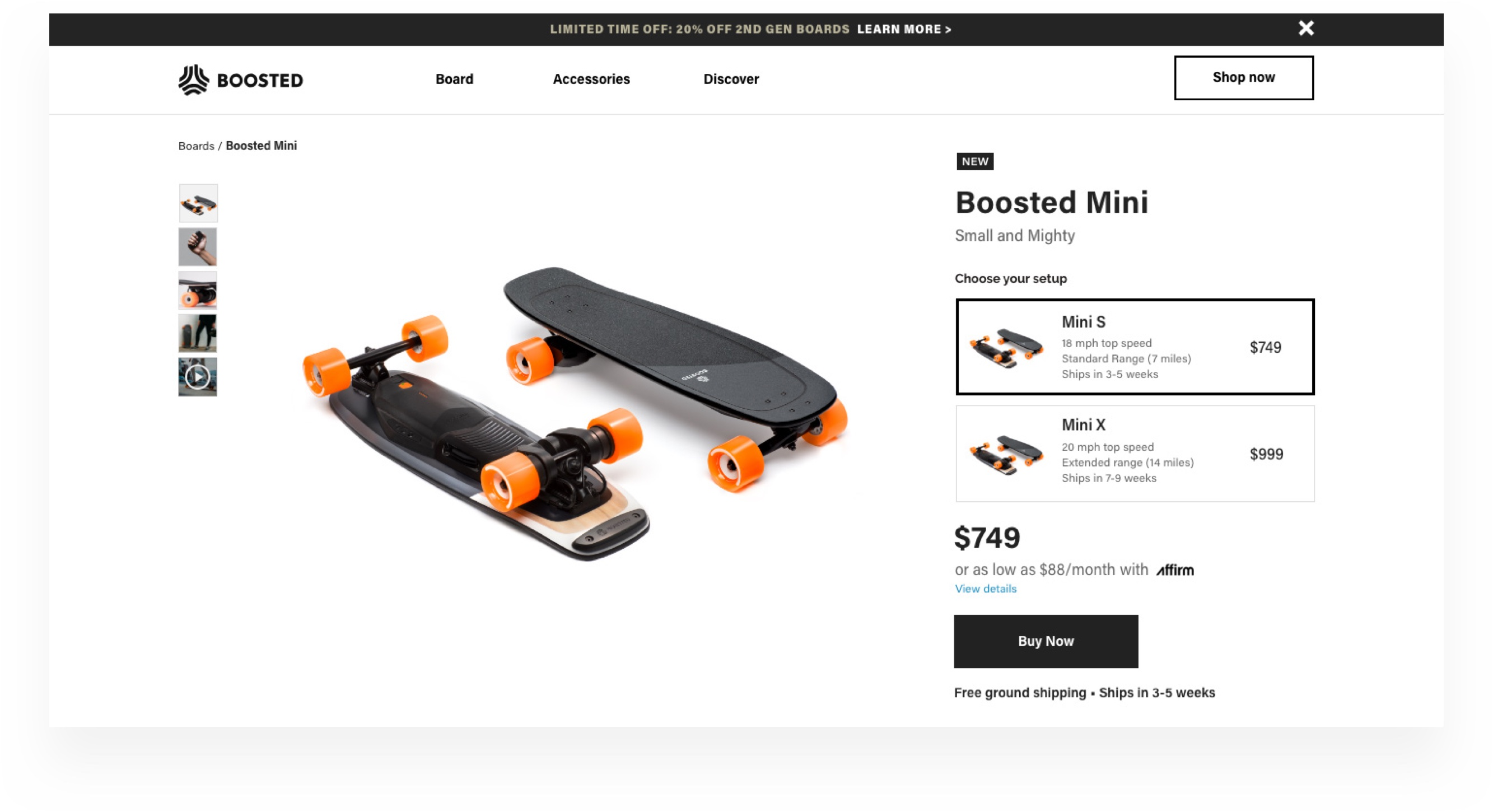 Boosted Boards Gen 3 Launch - Design Case Study