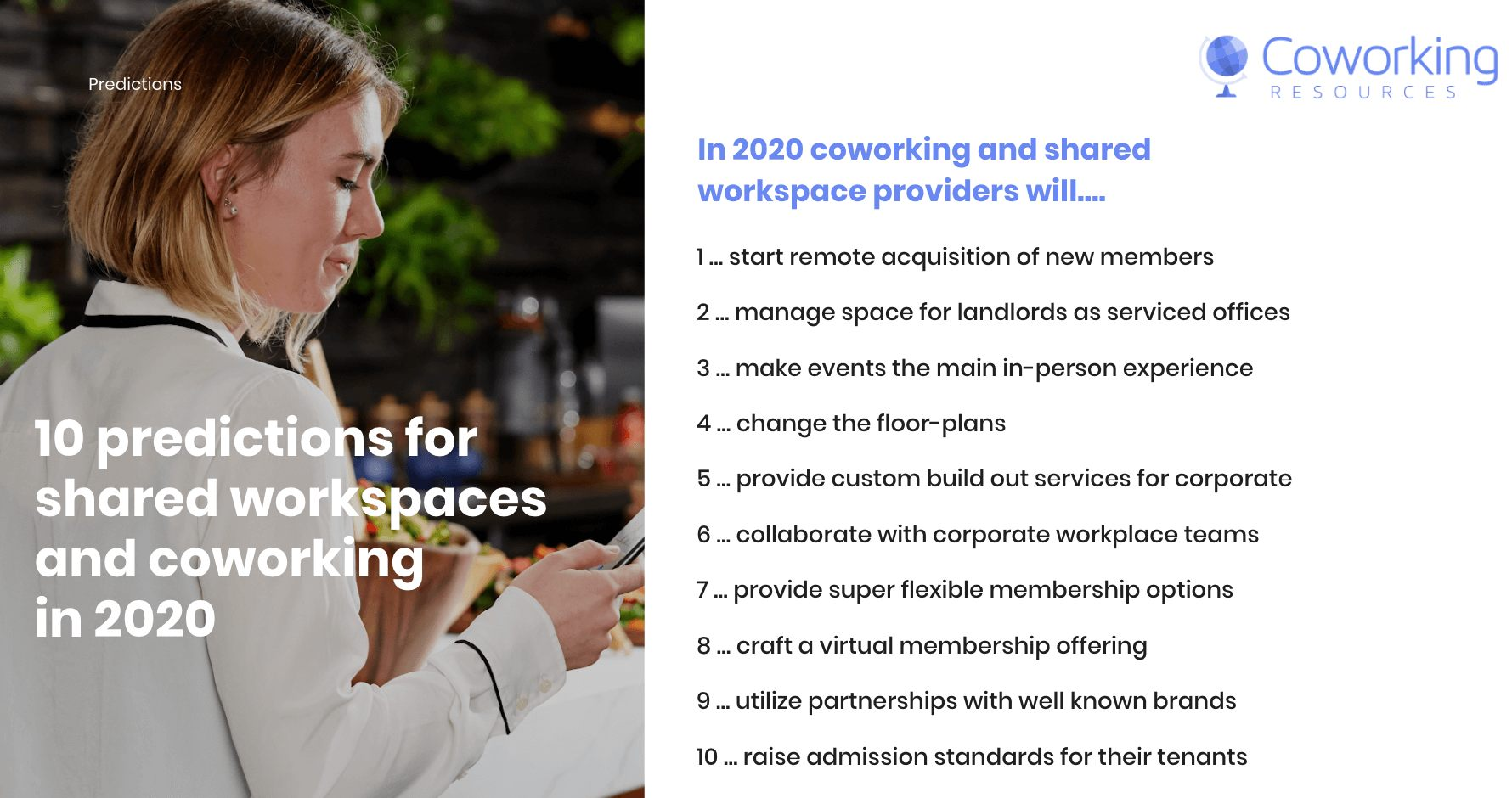 Coworking Predictions 2020