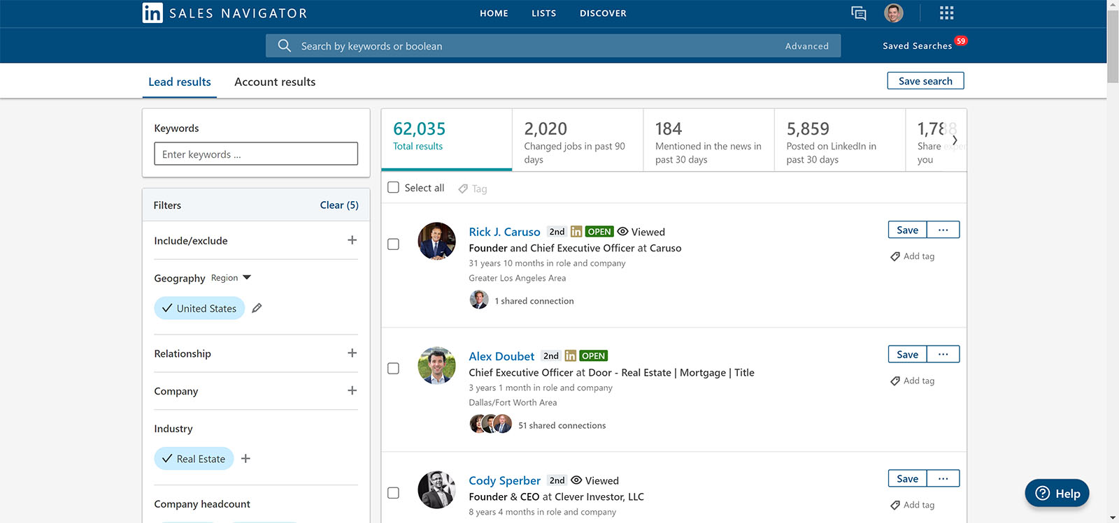 Using Linkedin sales navigator to generate B2B leads