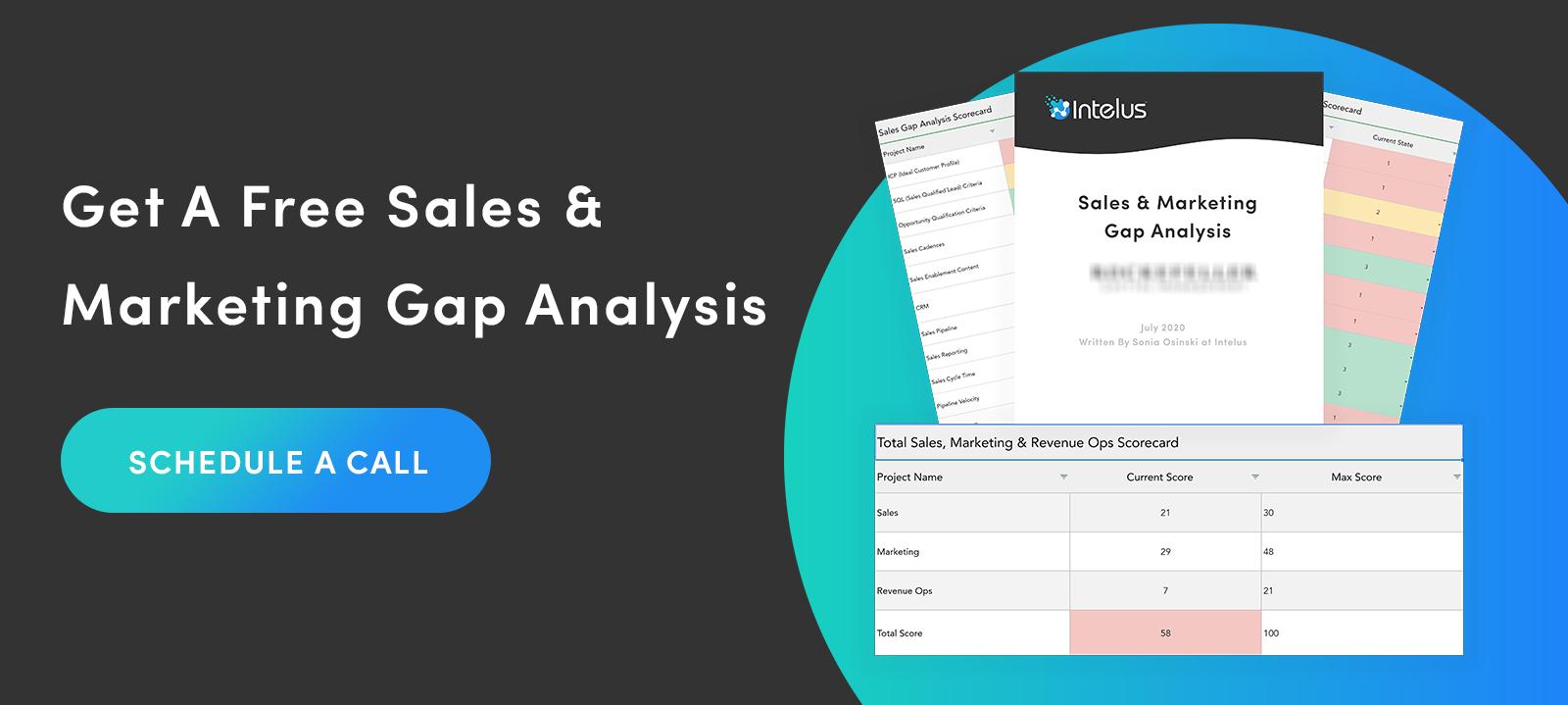 Sales and marketing gap analysis