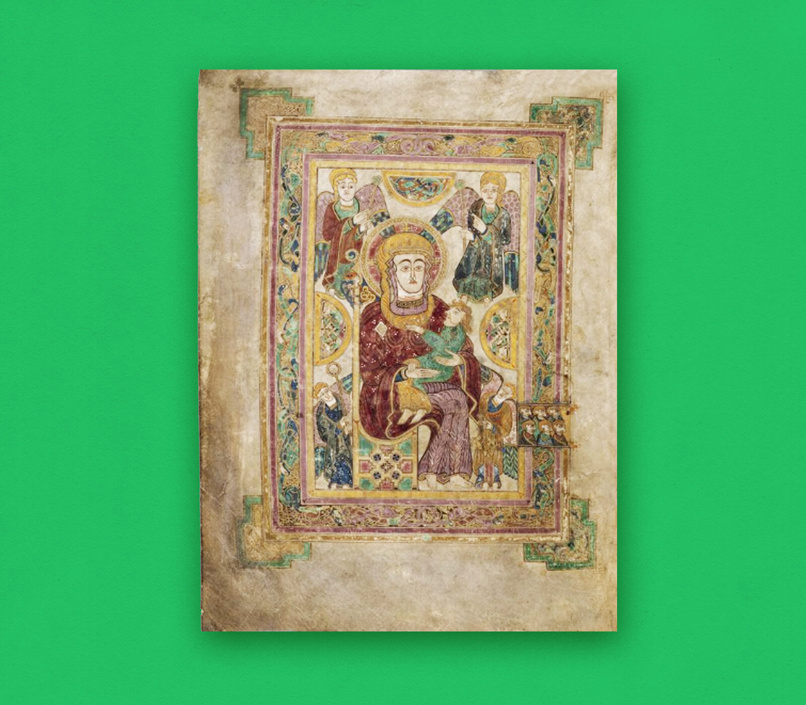 A page from the book of kells.